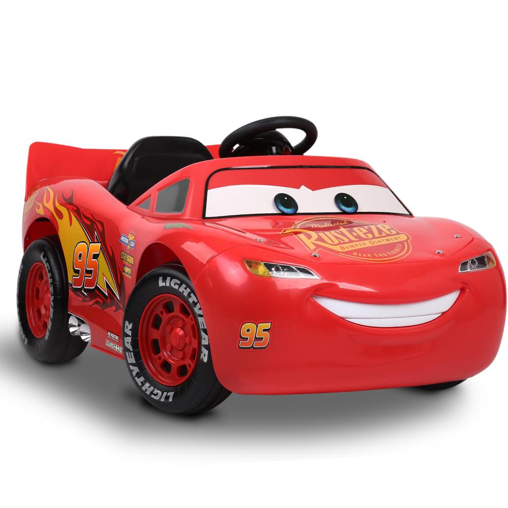 Disney Licensed Lightning McQueen Kids Ride On Car | Red (Ka-Chow)