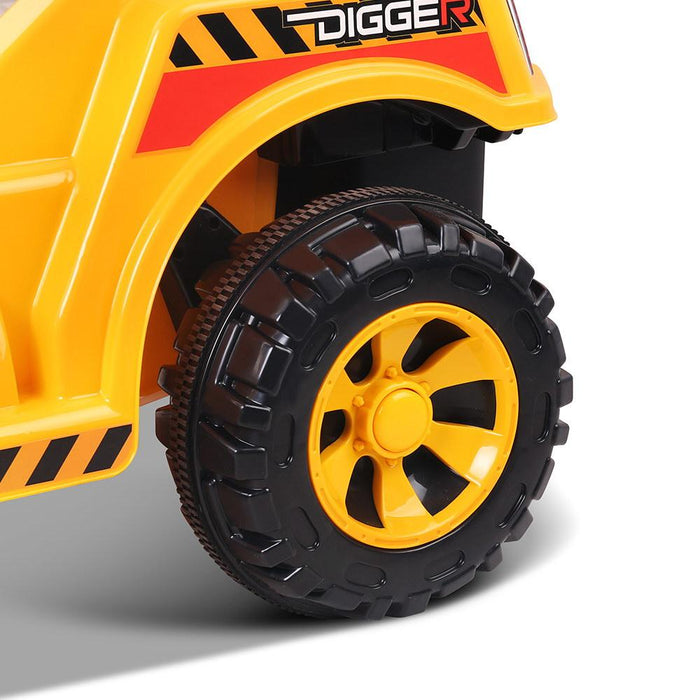 Excavator Digger Tractor Inspired Kids Ride On Car with Remote Control | Yellow