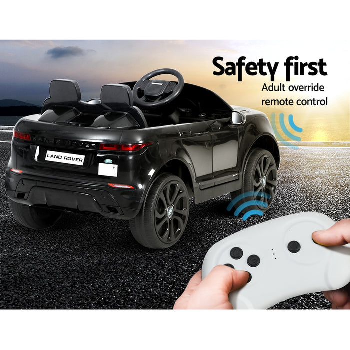 Range Rover Evoque Officially Licensed Kids Ride On Car with Remote Control |  Black
