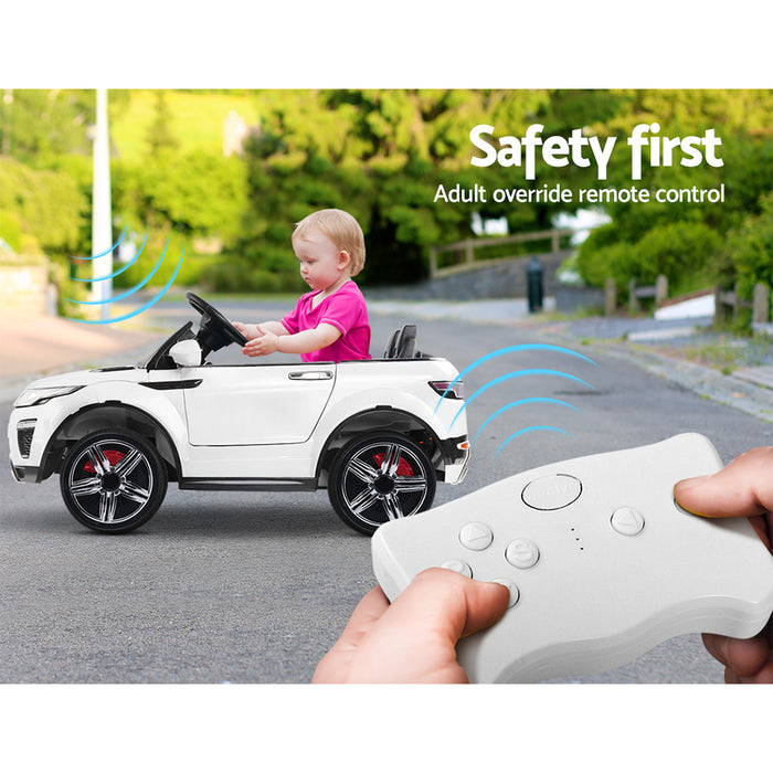 Range Rover Evoque Inspired Kids Ride On Car with Remote Control | White