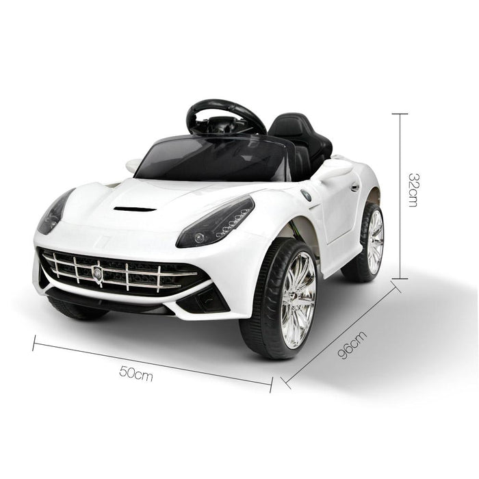 Ferrari F12 Inspired Kids Ride On Car with Remote Control | Ice White