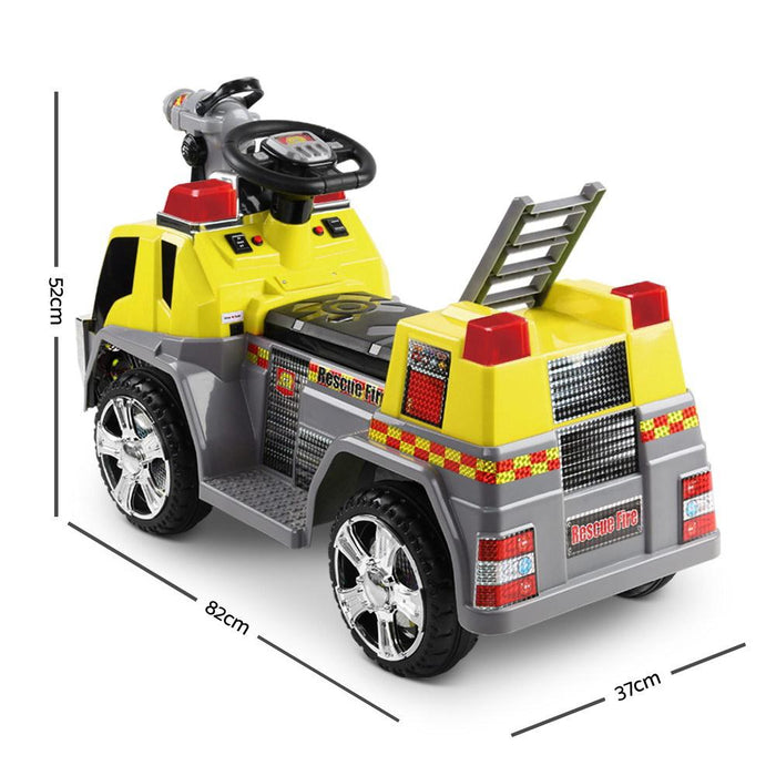 Fire Engine Inspired Kids Ride On Car Firetruck | Safety Yellow