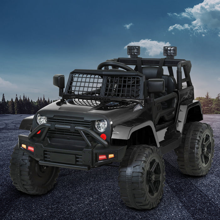 Jeep Inspired Kids Ride On Car with Remote Control | Stealth Black
