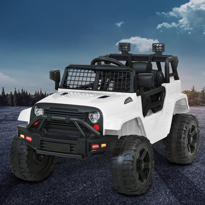 Jeep Inspired Kids Ride On Car with Remote Control | Snow White
