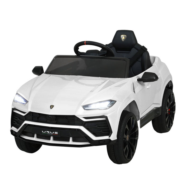 Lamborghini Officially Licensed URUS Kids Ride On Car with Remote Control | White (Bianco)