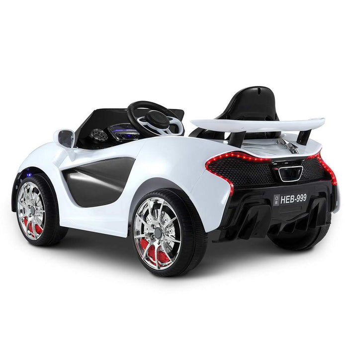 Mclaren Inspired Kids Ride On Car with Remote Control | White