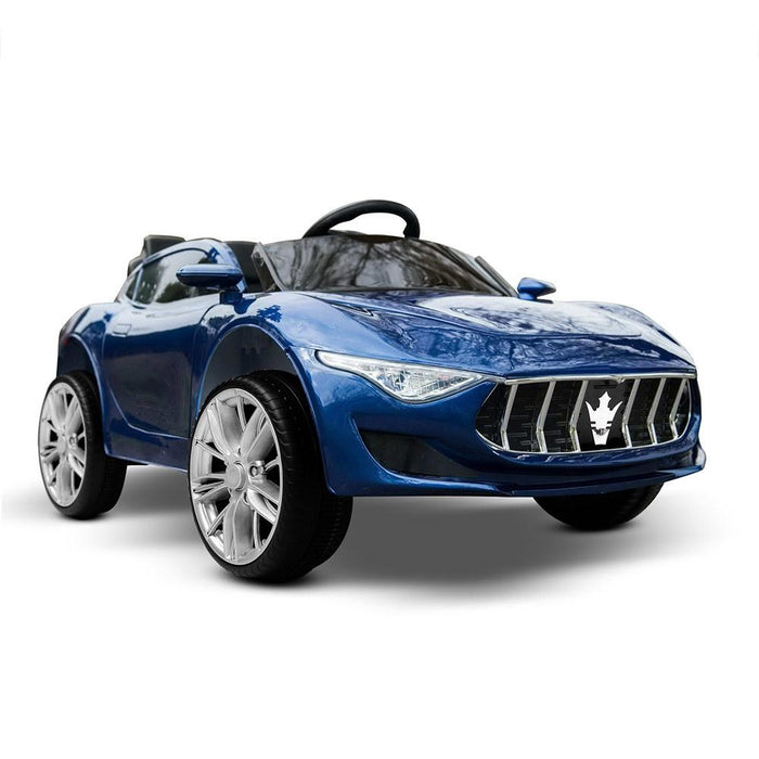 Maserati Inspired Kids Ride On Car with Remote Control | Metallic Blue (Limited Edition)