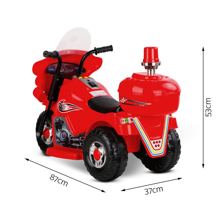 Fire Fighter Inspired Kids Ride On Motorcycle | Red