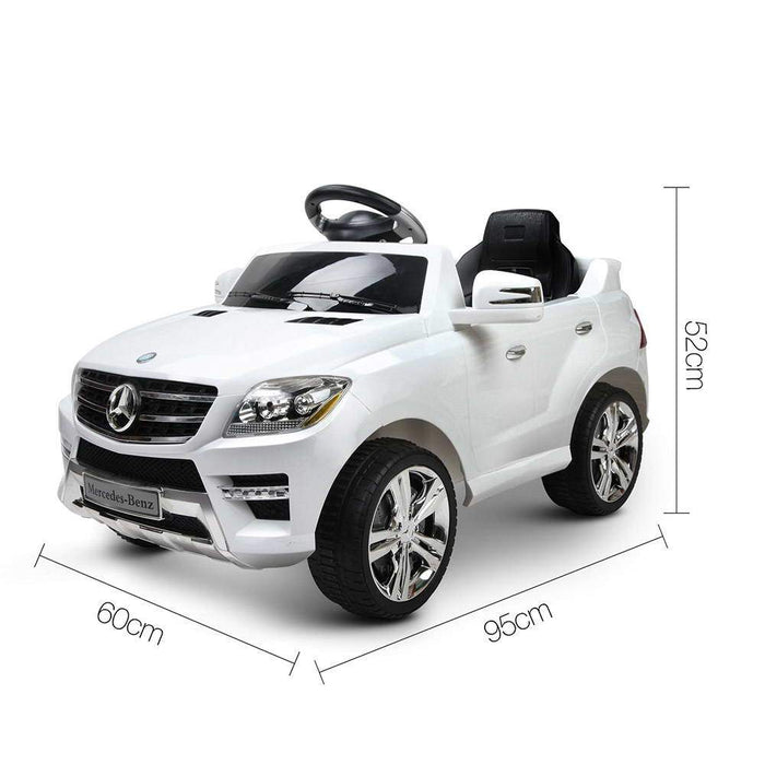 Mercedes Benz ML-350 Licensed Kids Ride On Car with Remote Control | White