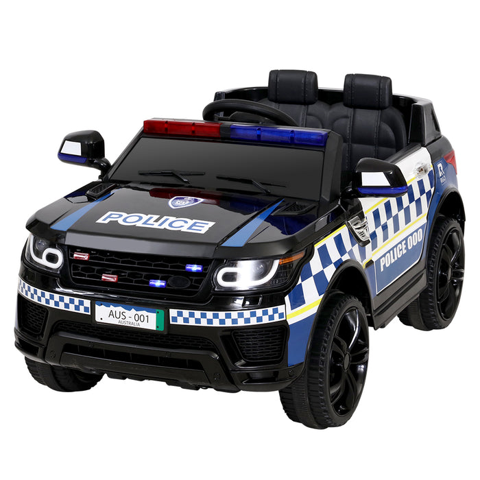 Range Rover Police Inspired Kids Ride On Car with Remote Control | Black