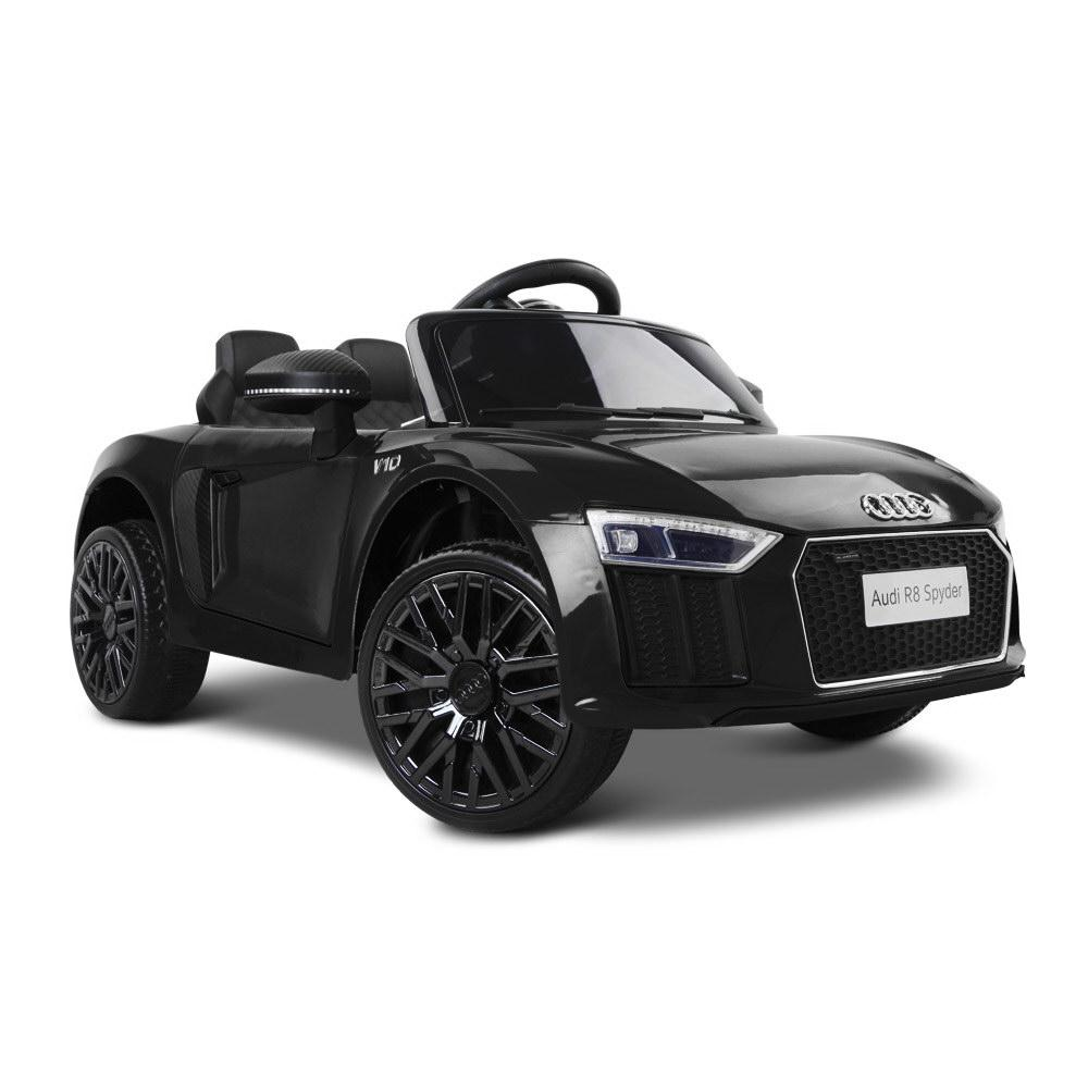 Audi R8 Spyder Licensed Kids Ride On Car with Remote Control | Black