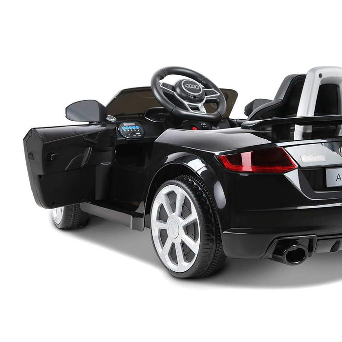Audi TT RS Licensed Kids Ride On Car with Remote Control | Black