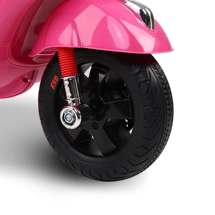 Vespa Licensed Kids Ride On Motorbike Motorcycle | Pink (Limited Edition)