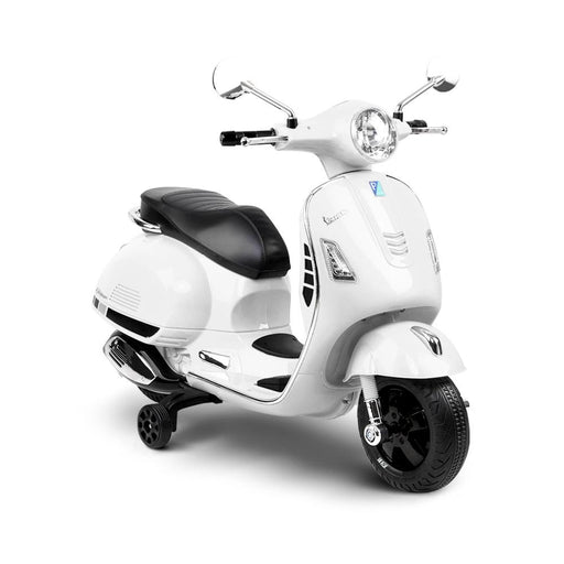 Vespa Licensed Kids Ride On Motorbike Motorcycle | White