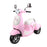 Vino Inspired Kids Ride On Car Scooter  | Pastel Pink