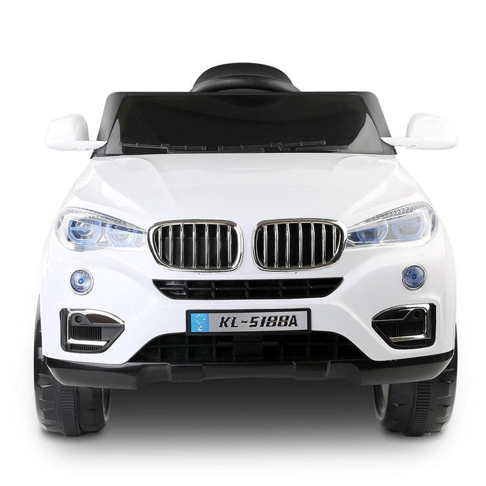 BMW X5 Inspired Kids Ride On SUV with Remote Control | White - Dealzilla.com.au