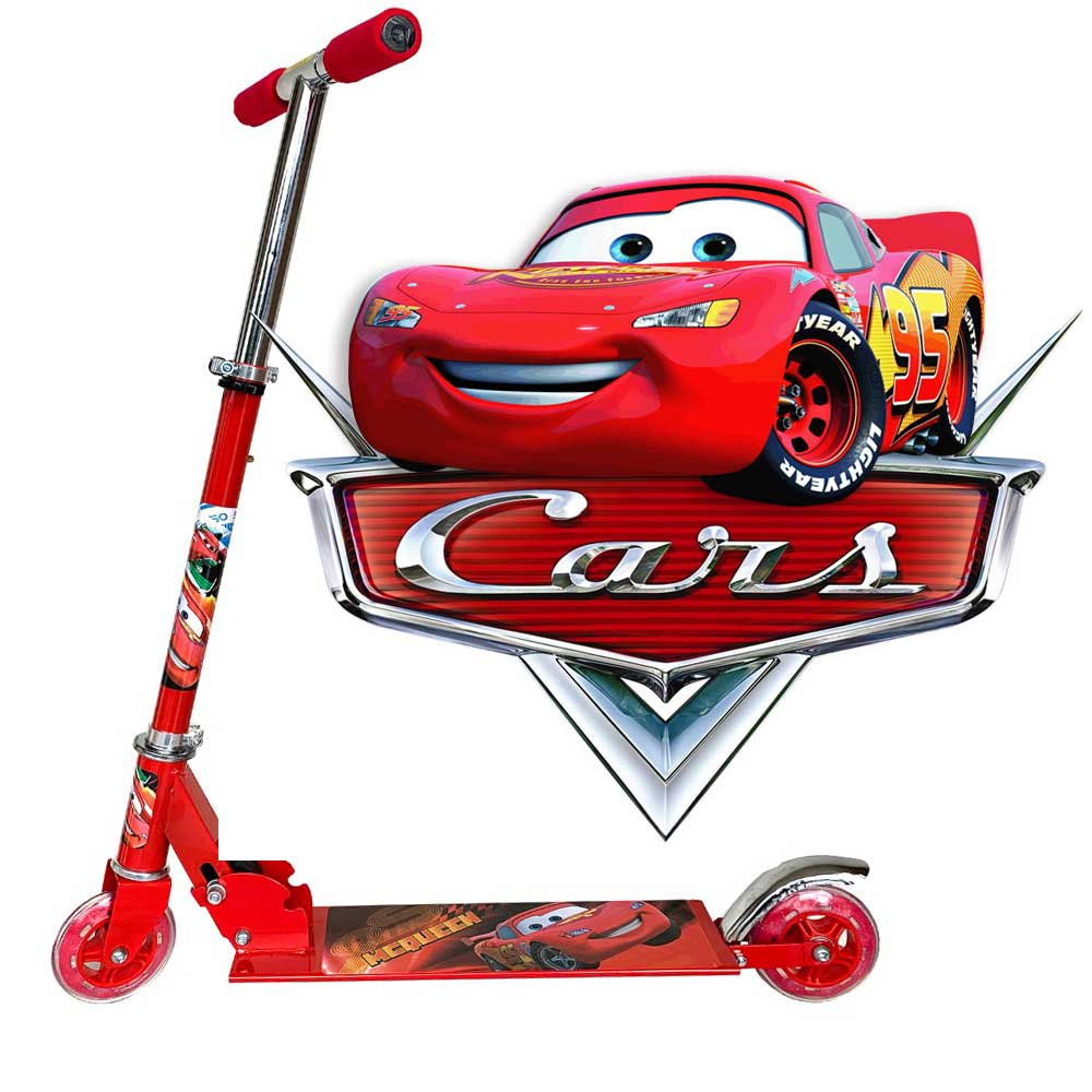 Foldable, Portable & Height Adjustable Kids DISNEY CARS Scooter | Red