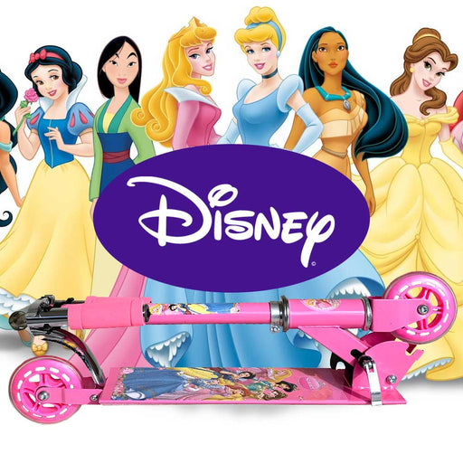 Foldable, Portable & Height Adjustable Kids DISNEY PRINCESS Scooter | Pink