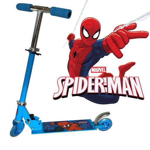 Foldable, Portable & Height Adjustable Kids SPIDERMAN Scooter | Blue