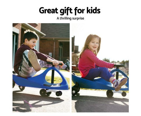 Sunny Days Kids Ride On Swing Car | Blue