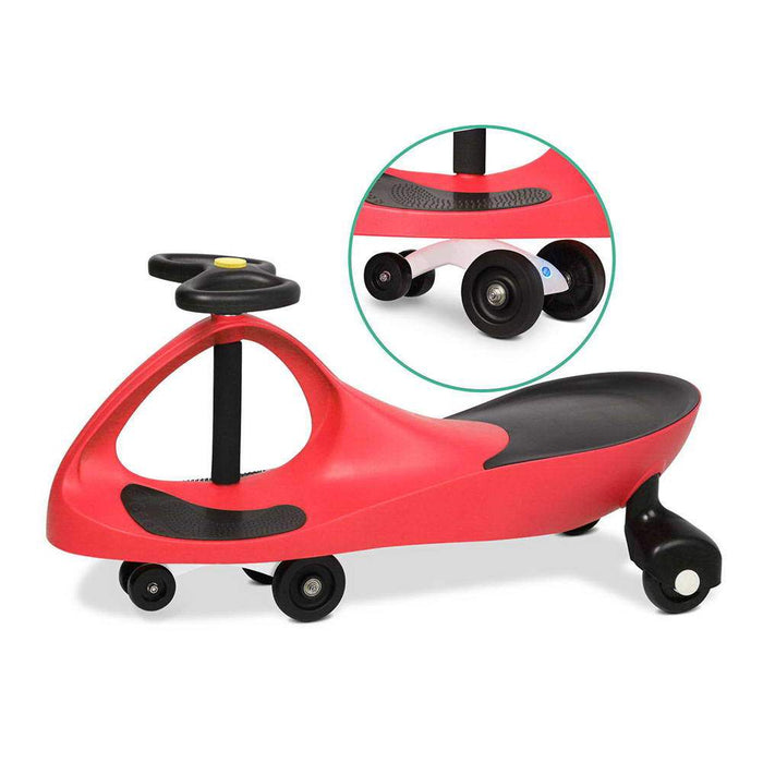 Sunny Days Kids Ride On Swing Car | Red
