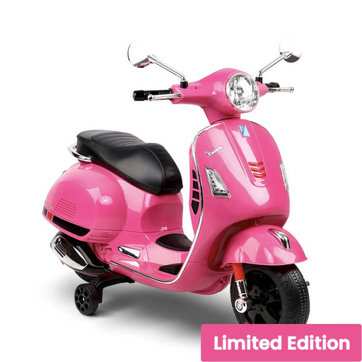 Vespa Licensed Kids Ride On Motorbike Motorcycle Pink