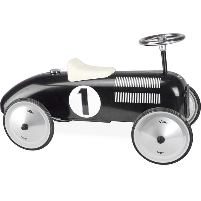 Kids Classic Vintage Racer Metal Ride On Push Car | Hepburn Black