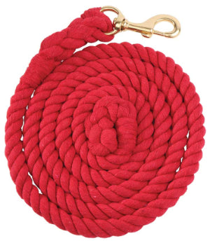 Cotton Rope Lead Brass Snap