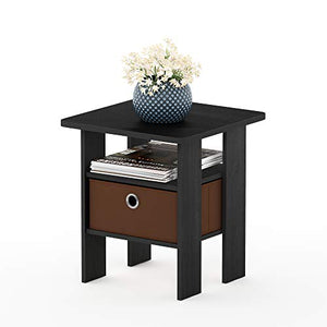 Furinno Brown Andrey Nightstand, - furniturify