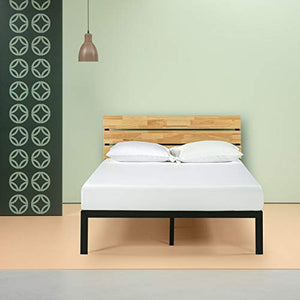 Zinus Paul Metal and Wood Platform Bed - furniturify