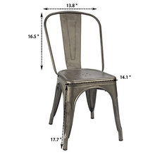 Load image into Gallery viewer, Furmax Gun Metal Dining Chair - furniturify