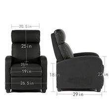 Load image into Gallery viewer, Mordern Leather Wingback Recliner Chair - furniturify