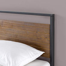 Load image into Gallery viewer, Metal and Wood Platform Bed - furniturify