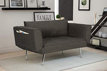 Load image into Gallery viewer, Novogratz Leyla Loveseat Multifunctional and Modern Design Adjustable Armrests to Create a Couch Sleeper - furniturify