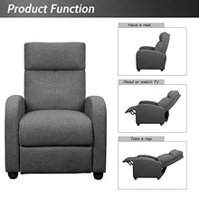 Load image into Gallery viewer, JUMMICO Fabric Recliner Chair - furniturify