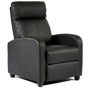 FDW Wingback Recliner Leather Single Modern Chair - furniturify