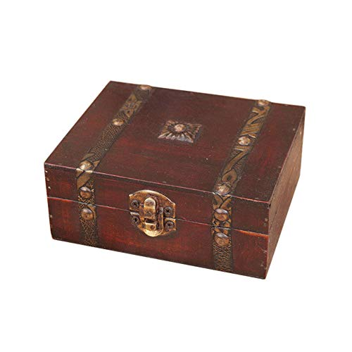 Onegirl Vintage Wooden Case Metal Storage Box - furniturify