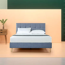 Load image into Gallery viewer, Zinus Lottie Upholstered Square Stitched Platform Bed / Mattress Foundation / Easy Assembly / Strong Wood Slat Support - furniturify