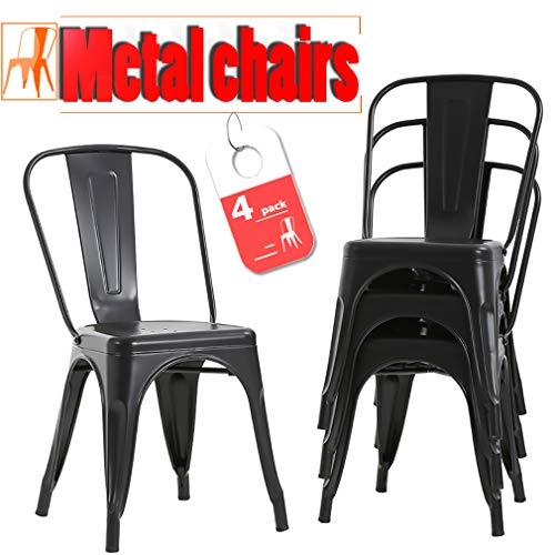 Stackable Chic Metal Restaurant Dining Chairs - furniturify