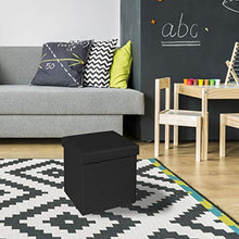 Load image into Gallery viewer, Seville Classics Black Ottoman - furniturify