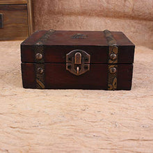 Load image into Gallery viewer, Onegirl Vintage Wooden Case Metal Storage Box - furniturify