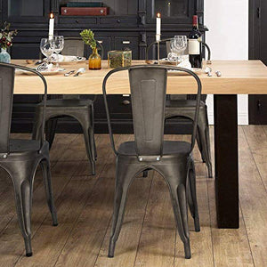 Furmax Gun Metal Dining Chair - furniturify