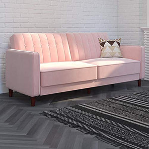 DHP Ivana Vintage Tufted Upholestered Futon Sofa Bed - furniturify