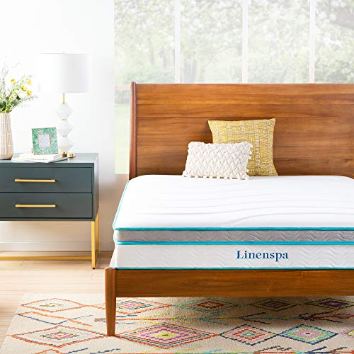 Linenspa 10 Inch Memory Foam and Innerspring Hybrid Mattress - furniturify