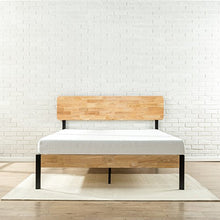 Load image into Gallery viewer, Zinus Olivia Metal and Wood Platform Bed with Wood Slat Support - furniturify