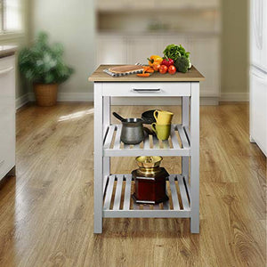 Casual Sunrise  Solid Top Kitchen Island, - furniturify