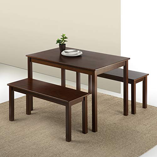 Wood Dining Table with Two Benches - furniturify