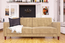 Load image into Gallery viewer, DHP Ivana Vintage Tufted Upholestered Futon Sofa Bed - furniturify