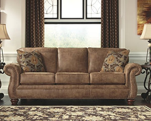 Larkinhurst Sofa Contemporary Style Couch Earth - furniturify