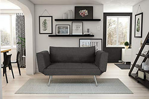 Novogratz Leyla Loveseat Multifunctional and Modern Design Adjustable Armrests to Create a Couch Sleeper - furniturify